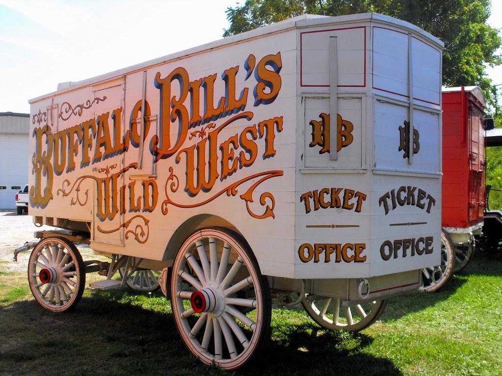 Buffalo bill 39 s wild west show ticket office wagon flickr - Buffalo bills ticket office ...