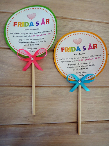 Lollipop birthday invitations | by Naztrida