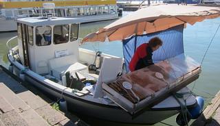 Mrs Linnea Granqvist and her boat