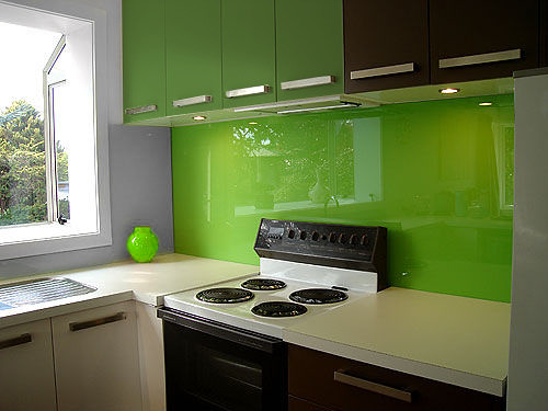 Lime Green Glass Splashback Wwwcreoglasscouk