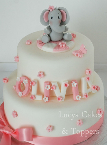 how to make fondant icing for a wedding cake elephant christening birthday cake topper set 15938