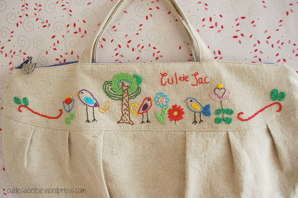 Hand Embroidered Small Zippered Bag | My Own Drawings! Patteu2026 | Flickr