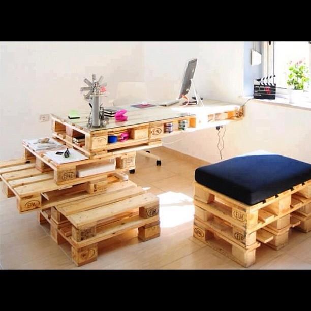 Otros muebles con palets reciclados y tratados integral - Muebles con palet ...