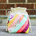 Diagonal Stripes Drawstring Bag