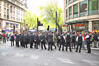 Met Police at Holborn during the 2012 May Day March | by Ian Press Photography