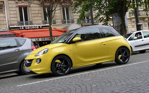 opel adam sunny yellow follow us on fa flickr. Black Bedroom Furniture Sets. Home Design Ideas