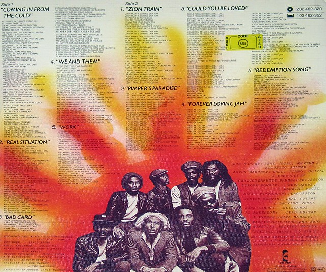 Bob Marley & The Wailers Uprising Structured cover