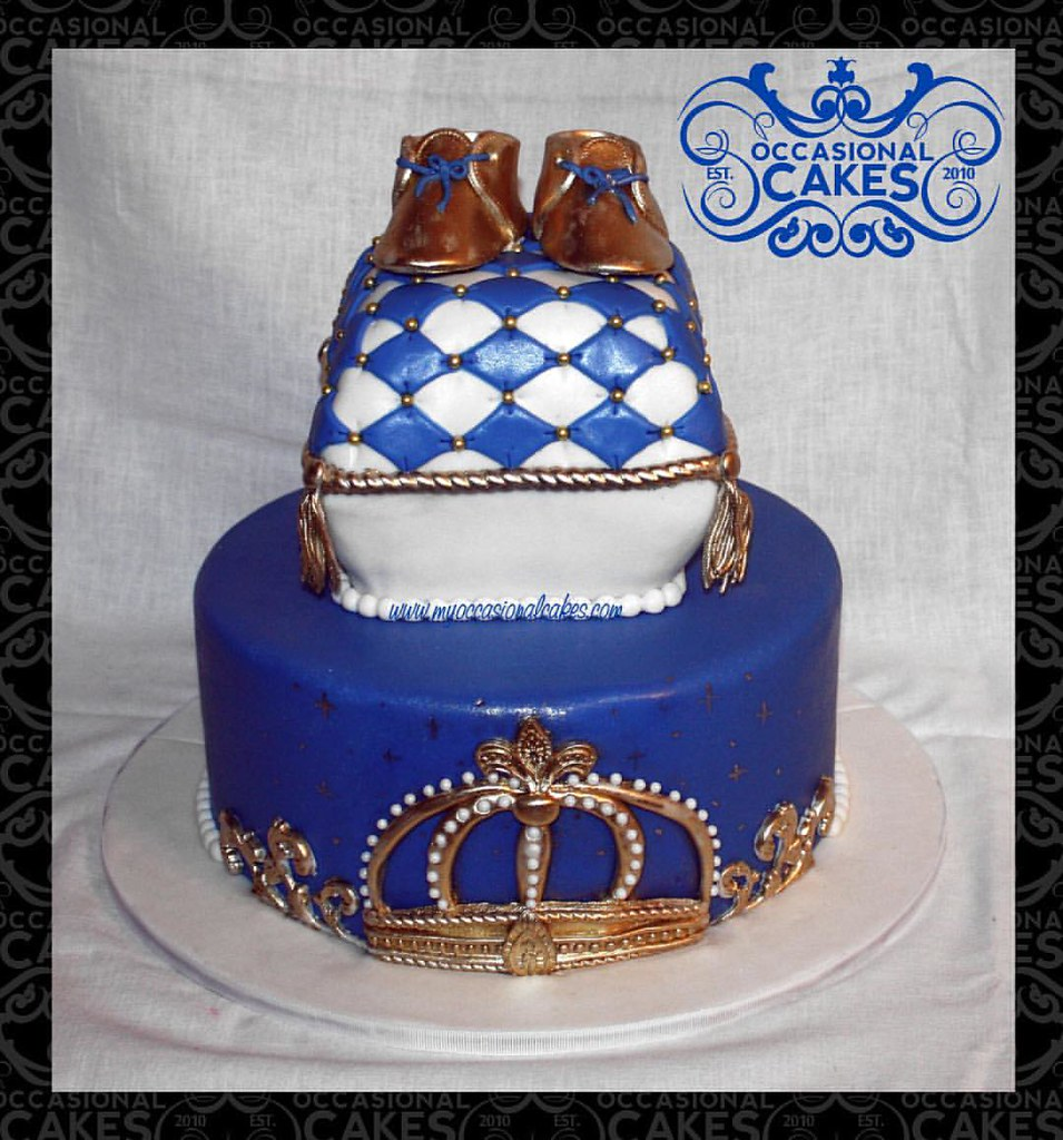 Prince Littleprince Babyshower Baby Cake Crown Goldb Flickr