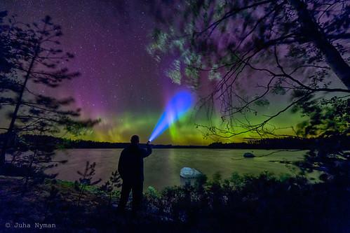 Northern lights at Puula
