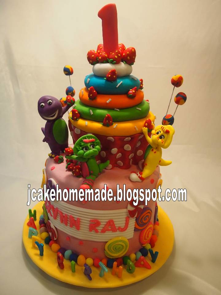 Birthday Cake Images With Name Raj : Barney and friends cakes Happy 1st birthday Erynn Raj ...