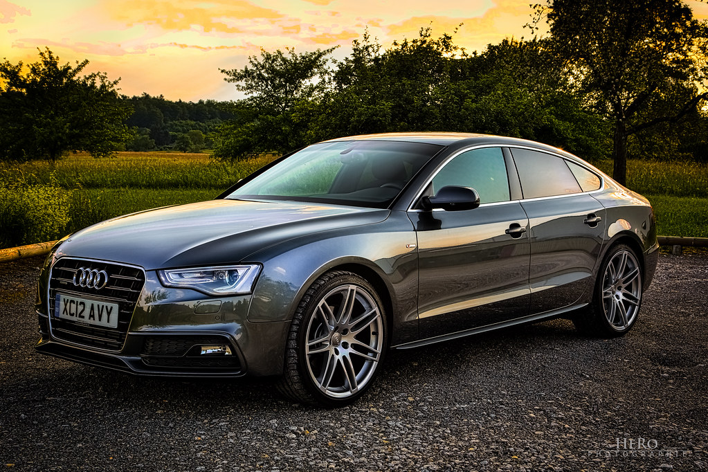audi a5 sportback my new baby bought in uk lhd 1. Black Bedroom Furniture Sets. Home Design Ideas