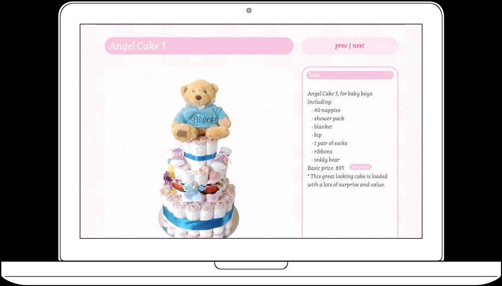 Cake Design Angel Kid