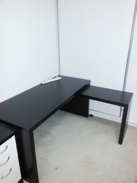malm desk with pull out panel black brown 3 waterview2011 flickr. Black Bedroom Furniture Sets. Home Design Ideas