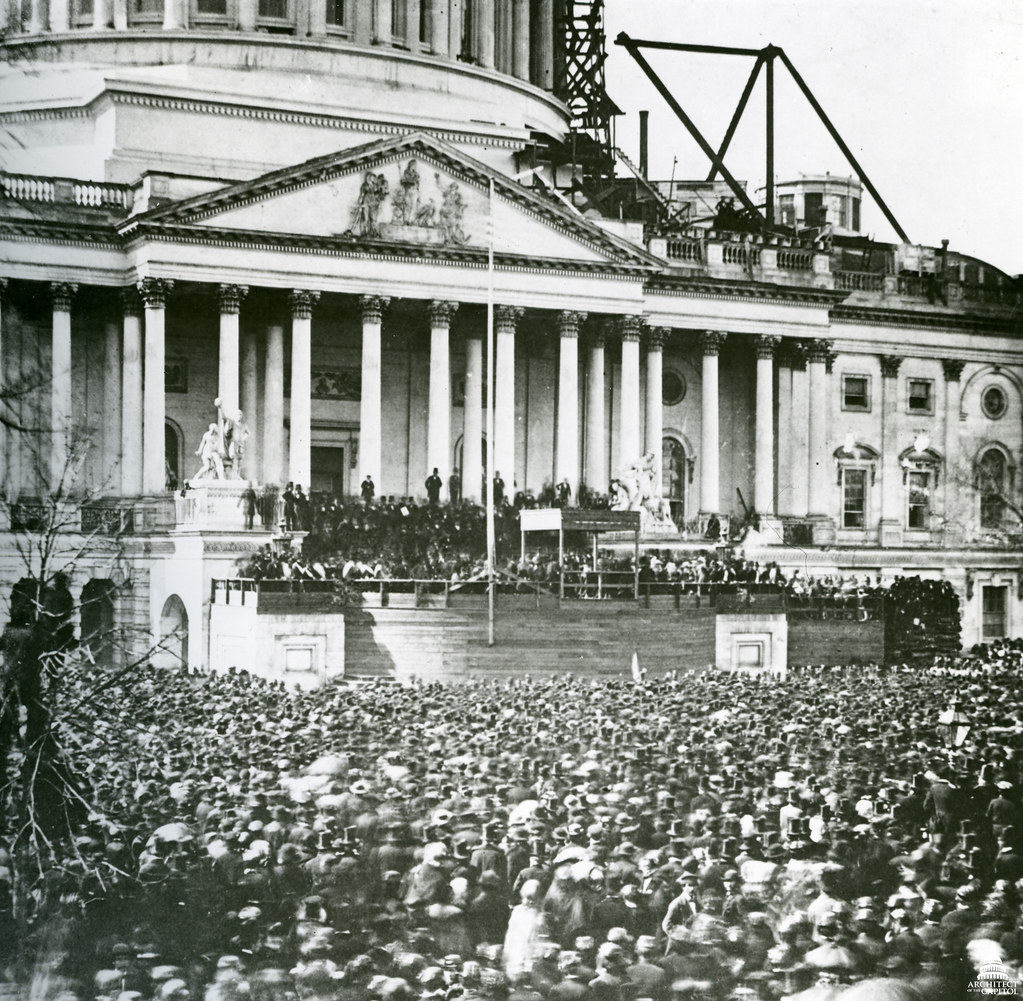 ... 1861 Abraham Lincoln's First Inauguration | by USCapitol