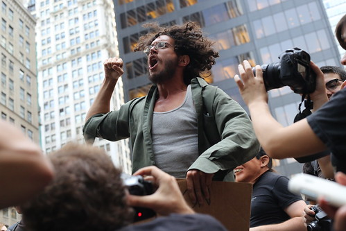 Fist pump at Occupy Wall Street | by WarmSleepy
