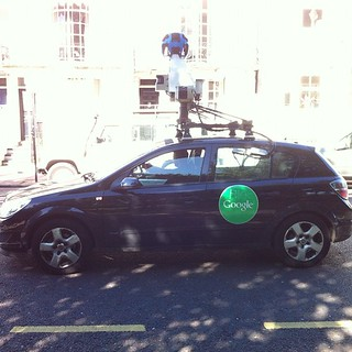 Laughing at the defaced Google Streetview car | by adactio