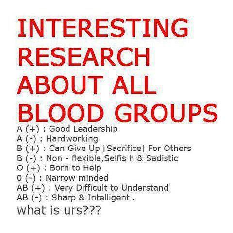 BLOOD GROUP PERSONALITY PDF