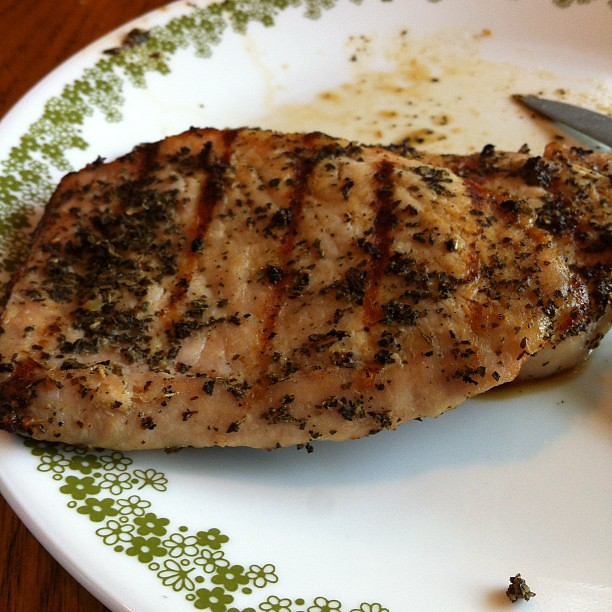 Garlic basil pork chop #food #tasty #grilled | Michael Arnold | Flickr