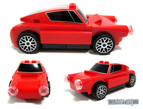Different views of the 250 GT Berlinetta (without stickers applied) | by WhiteFang (Eurobricks)
