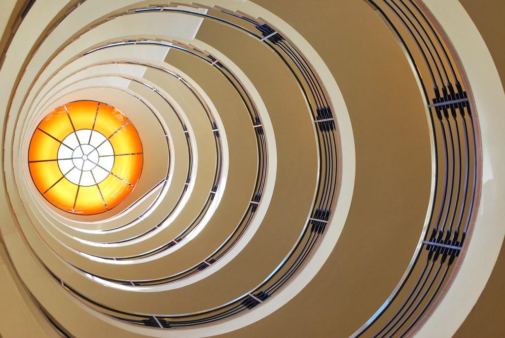 left of center spiral staircase brahms kontor hamburg scilla sinensis flickr. Black Bedroom Furniture Sets. Home Design Ideas