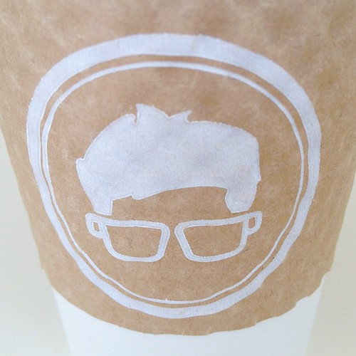 Interesting use of coffee cups for a logo #walkingtoworktoday | by Michael Surtees