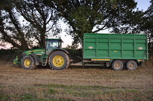 John Deere 7930 Tractor with a Thorpe Grain Trailer | by Shane Casey CK25