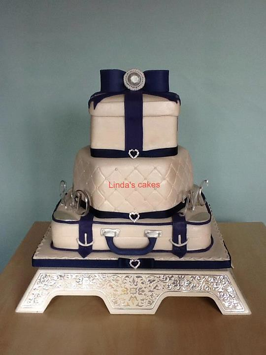Suitcase Wedding Cakes Pictures