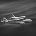 Space Shuttle Endeavour - Menlo Park - 2012 (B+W)