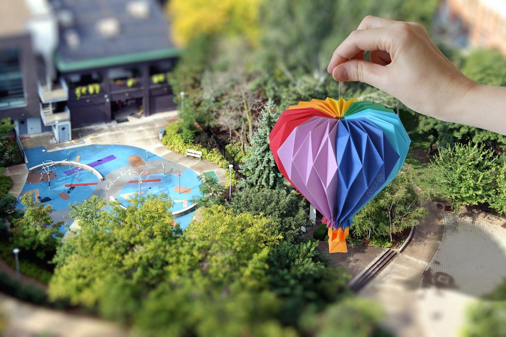 Origami Balloon Diagram Origami Balloon Ride in