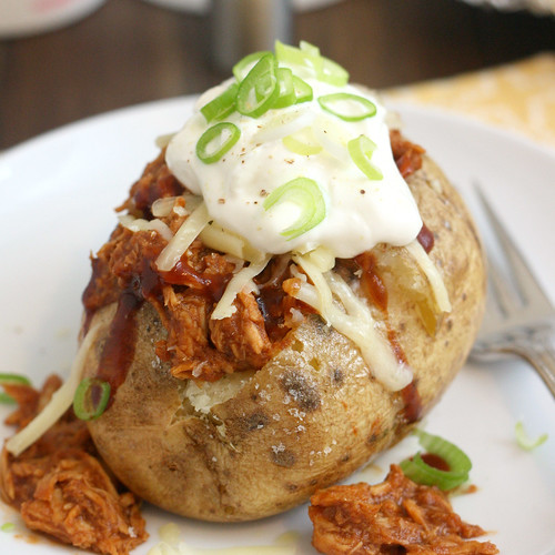 Barbecue Chicken Stuffed Baked Potatoes | by Tracey's Culinary Adventures