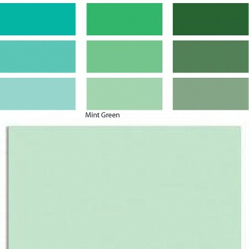 My srlection for a client curtains color , mint green calm