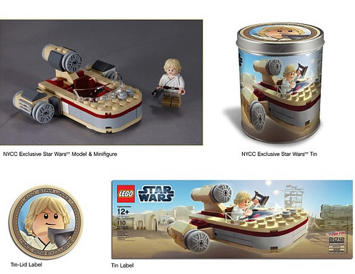 NYCC 2012 LEGO Exclusive Luke Skywalker's Chibi Landspeeder | by fbtb