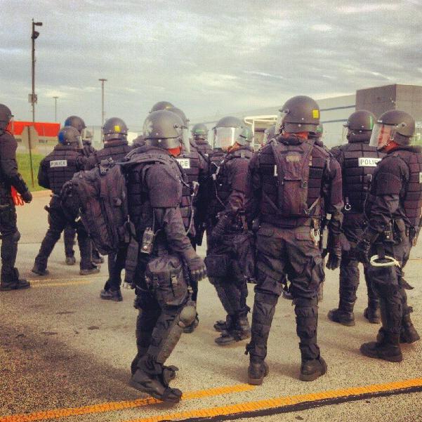 Walmart riot cops chi Oct 1