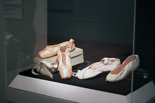 Autographed shoes worn by Margot Fonteyn and Rudolf Nureyev, on loan from ROHCollections in an exhibition at the de Young Museum, San Francisco © Sarah Bailey Hogarty 2012 | by Royal Opera House Covent Garden