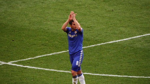 Frank Lampard saluting the crowd | by Ben Sutherland