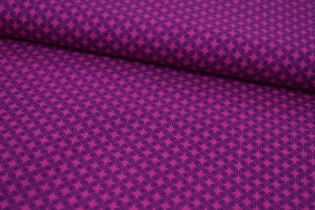"Baumwollstoff ""Tiny Tiles"", lila"