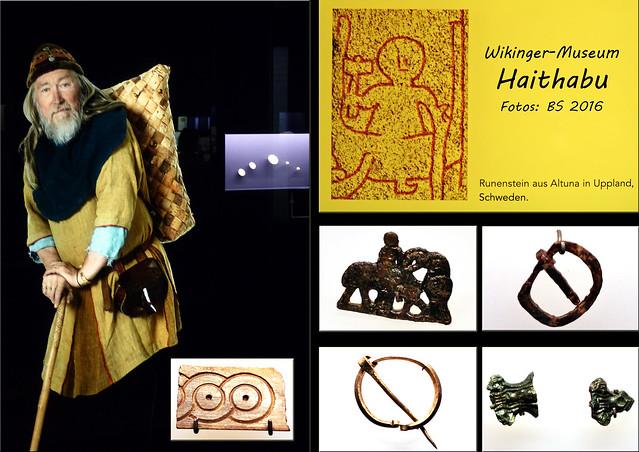 Schleswig Wikinger-Museum Haithabu Geschichte Archäologie Runensteine ... Fotos und Collagen: Brigitte Stolle 2016