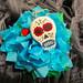 Sugar Skull Necklace Red:Blue