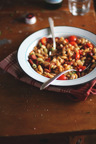 Beans with Sausages, Tomatoes and Sweet Pepper | by anna kurzaeva