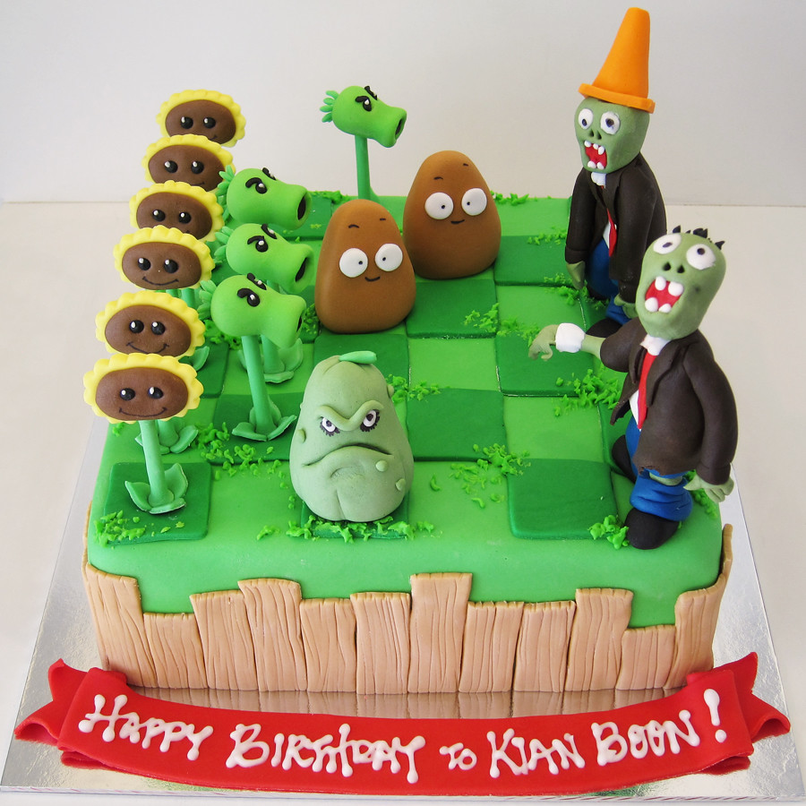 Cake Ideas For Plants Vs Zombies