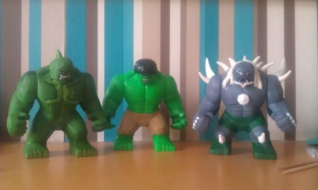 the boys.... | Lego hulk with custom Lego abomination and ...