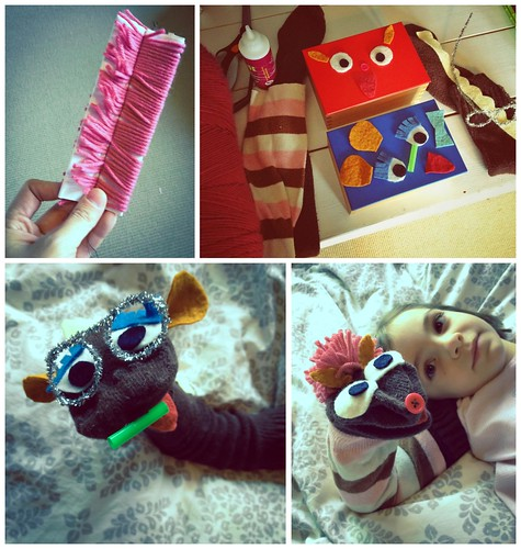 We gathered our supplies and made our puppets | by Fluttering By