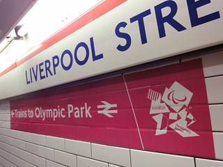 olympic wayfinding at liverpool street | by smallritual