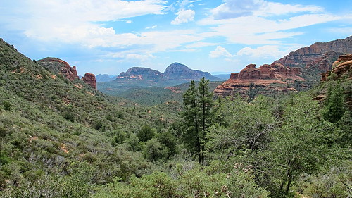 View south down Secret Canyon from near David Miller trail summit - Sedona | by Al_HikesAZ