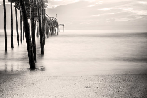 Avon Pier B&W | by jacob.caddy