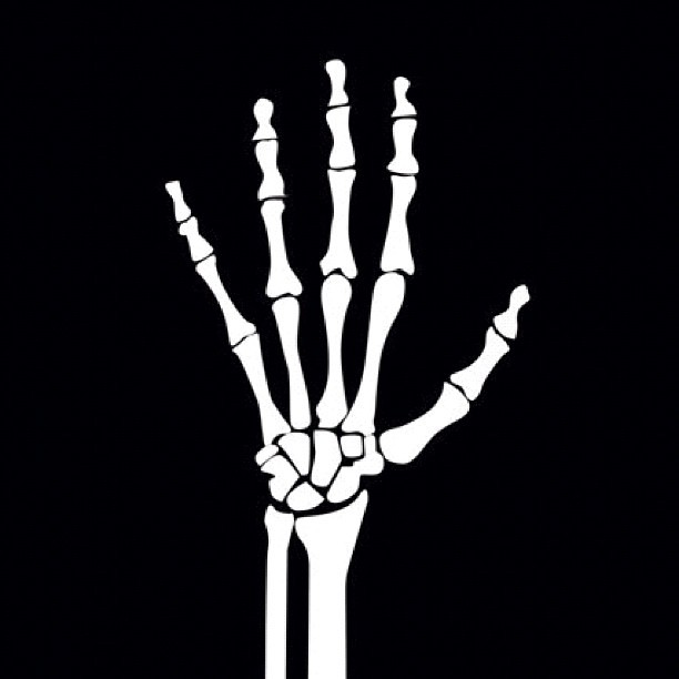 how to draw a skeleton hand