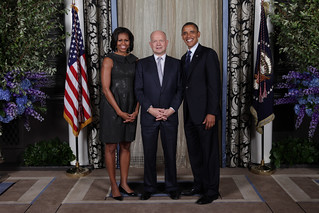 UK Foreign Secretary William Hague meets with the US President Barack Obama and First Lady Michelle Obama | by UK UN, New York