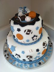... Sports Baby Shower Cake | By Simply Sisters Cake Creations