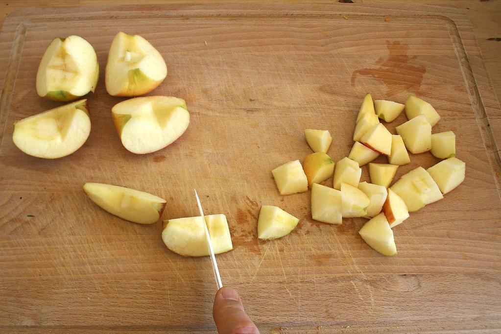 30 pfel w rfeln dice apples rezept recipe. Black Bedroom Furniture Sets. Home Design Ideas