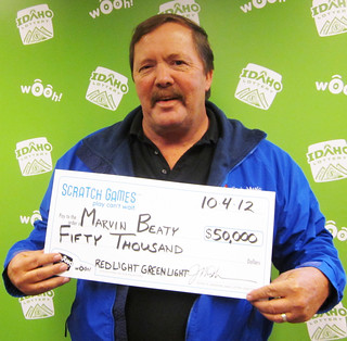 Marvin Beaty - $50,000 Red Light Green Light Cashword | by Idaho Lottery